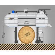 Wm1000 - scie industrielle - wood mizer - à trait de scie fin