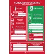 27986 - Panneau consignes de sécurité - VIRAGES - Dimension 450 x 300 mm