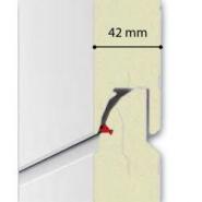 Porte sectionnelle panneau à cassettes + hublots