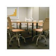 Ingrid v612 - chaises empilables - concepts - avec roulettes en plastique