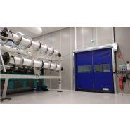Porte rapide / souple / en plastique / utilisation intérieure / 8000 x 8000 mm