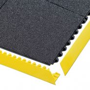 Tapis en dalles clipsables antifatigue sécurité postes de soudure