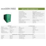 Ecogen-70sg -  cogénération - cogengreen - puissance électrique 70kw (62 kw en groupe de secour)