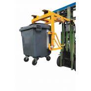 Dispositif de déversement pour poubelles 500 à 1100 litres