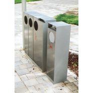 Cs110x - poubelle publique - mmcité 1 a.s. - corps en acier, 32l, sans couvercle, version sans cendrier