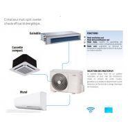 Nexya s4 e duct inverter multi - climatiseur professionnel - olimpia splendid - commande à distance murale