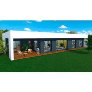 Maison à ossature en bois plain-pied joor 5 / surface habitable 125 m² / surface brute 178 m² / 5 pièces / toit plate