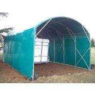 Abri camping car semi-fermé modular / structure en acier / toiture arrondie