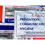 Lingette hydroalcoolique 90°  anti-virus / décontaminant