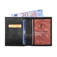 Portefeuille luxe en cuir noir protège l'essentiel - c1126 noir