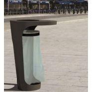 Corbeille de mobilier urbain mars