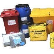 Absorbant anti-pollution de liquide - kit absorbant pour liquide polluant