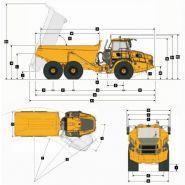 B30e tombereaux articulés - bell - 28 000 kg