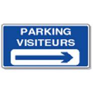 Panneau de signalisation - parking visiteurs