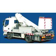 162 tm camion télécospique nacelle - fe group - bras avec 2 éléments télescopiques