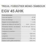 Egv 45 ahk - treuil forestier - tajfun - force de traction 4,5 t
