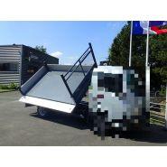 Benne triverse - jocquin - hayon arrière en acier électro-zingué peint hauteur 450 mm, avec ouverture automatique