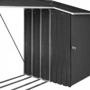 1001 - abri buches métal 1,10m² + remise en métal 1m² woodstore duramax