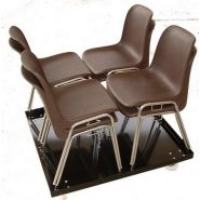 14031a824 - chaises empilables - millet-culinor - dimensions l. 0.44 x 0.50 x h. 0.80m
