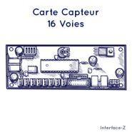 CARTE CAPTEUR - 16 VOIES - MIDI