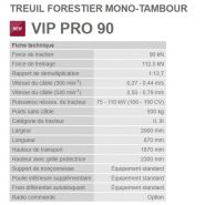 Vip pro 90 - treuil forestier - tajfun - force de traction 9 t