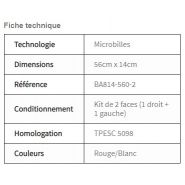 Ba814-560-2 - eléments rétro réfléchissant - nippon carbide industries france - dimensions 56 cm x 14 cm