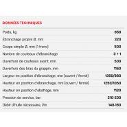 500c - tête d'abattage - nisula - poids 650kg