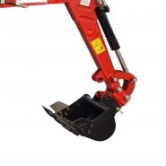 Mini-pelle avec entraînement par chaîne, châssis réglable et bras de pelle pivotant - cbkb851