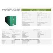 Ecogen-200sg -  cogénération - cogengreen - puissance électrique 200kw (180kw en groupe secour)