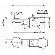 31140-065 - support de comparateur - norelem france - dimensions 65 * 95