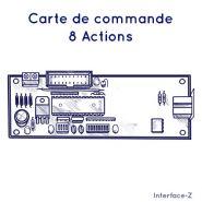CARTE COMMANDE - 8 ACTIONNEURS