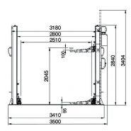 Pont élévateur électro hydraulique corghi erco hc4502 b 4,5 t