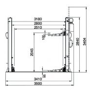 Pont élévateur électro-hydraulique corghi erco hc4502 b 4,5 t