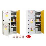 Armoire de sécurité multirisques - fermeture automatique - coupe-feu 30mn