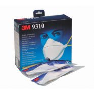 3m 9310+ ffp1 nr d - masque respiratoire - cerva - pliable sans valve d'expiration jusqu'à 4x npk p