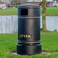 Topsy jubilee - poubelle publique - glasdon - 110 litres
