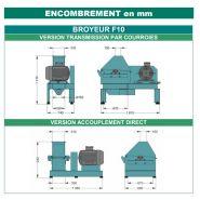 F10 - broyeurs et concasseurs alimentaires - electra - poids: 700 kg à 1000 kg