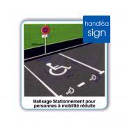 Ha2055 - pochoir handicapé - sigma signalisation - en pvc