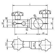 31140-100 - support de comparateur - norelem france - dimensions 100 * 130
