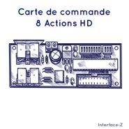 CARTE COMMANDE - 8 ACTIONNEURS HD