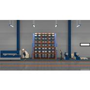 Carrousel rotatif vertical mécanique pour profiles