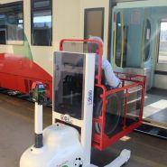 Plateforme elevatrice mobile special trains motorisee : pandastation