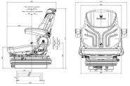 Siege tracteur maximo confort