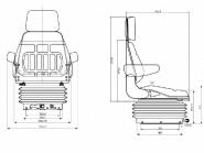Siege tracteur cs85 top25