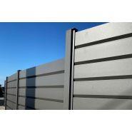 Sirocco - clôture en aluminium - alukit - lames persiennes 160 mm