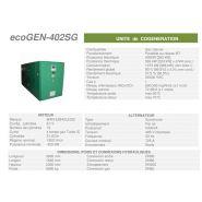 Ecogen-402sg -  cogénération - cogengreen - puissance électrique 402kw [363 kw]
