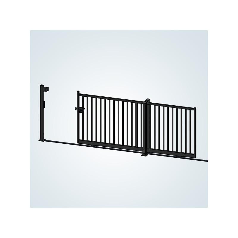 portail coulissant rail simple vantail droit. Black Bedroom Furniture Sets. Home Design Ideas