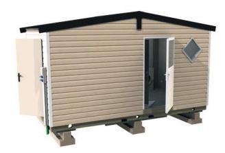 Sanitaires publics extérieurs sanivulcain / 2 cabines / 5.07 x 2.95 x 3.23 m