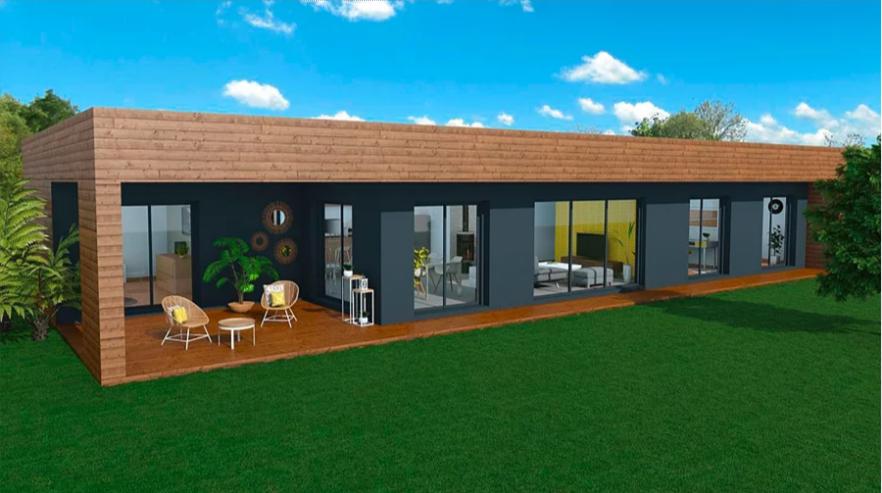 Maison A Ossature En Bois Plain Pied Joor 5 Surface Habitable 125