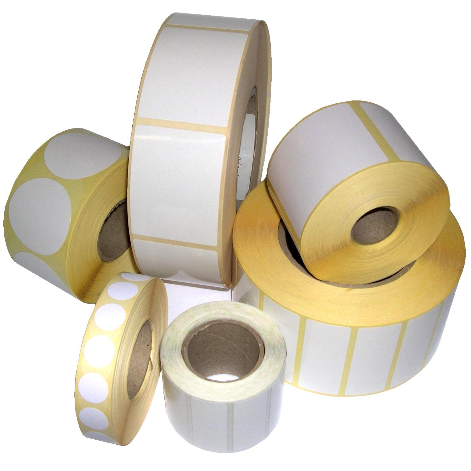étiquettes adhésives pour imprimante thermique ou jet d'encre
